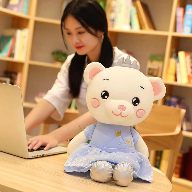 Hot 30cm Princess Bear Doll Plush Toy Soft Stuffed Animal Teddy Bear Doll Crown Bear Doll Baby Appease Toy Friend Kid Best Gift