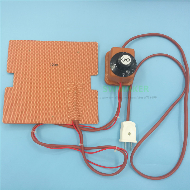 flashforge finder pecas de impressora 3d 120 v 220 v 250 w almofada aquecedor silicone cama