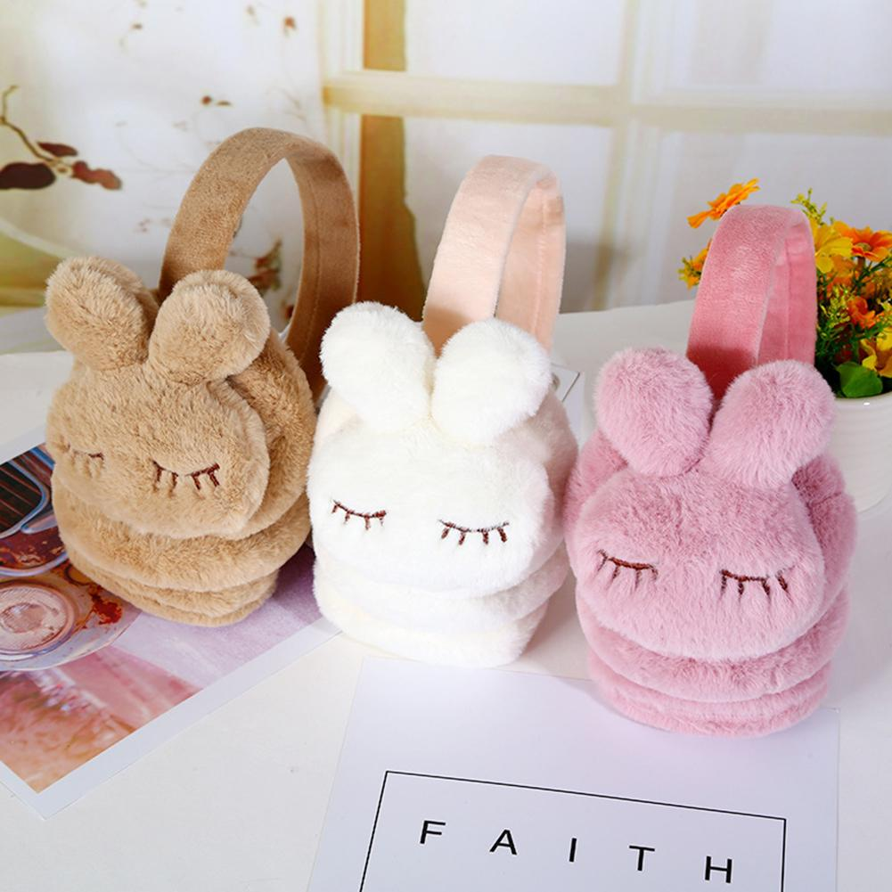 Cute Warm Earmuffs Ear Warmer Earmuffs Winter Plush Rabbit Ear Muffs Earcap Kids Ear Cover Protector Earmuffs Girls