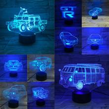 Multicolor Change Novelty 3D Car Bus Lamp Touch Remote USB Night Light Atmosphere Lighting Lampara Boys Gifts Bedroom Desk Decor cheap GAOPIN LED Bulbs Night Lights 110V 220V Dry Battery Holiday 0-5W China Post Free Shipping Home Desk Table Lamp Decorative