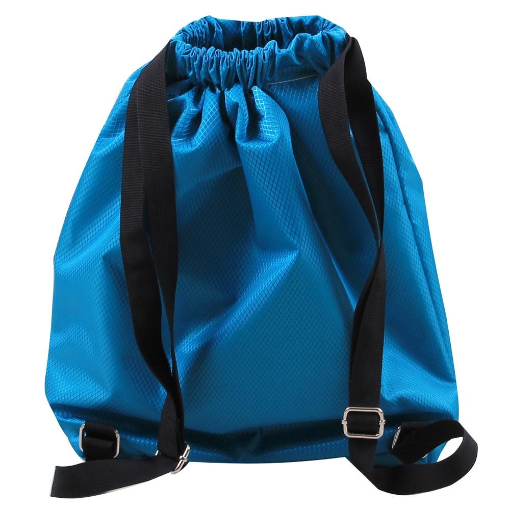 Sport Unisex Bundle Drawstring Backpack Blue Rose Travel Durable Large Space Gym Sack Special Waterproof