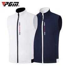 1 adet Golf yelek PGM giyim golf giyim erkek yelek sonbahar ve kış termal yelek rüzgar geçirmez su geçirmez ceket