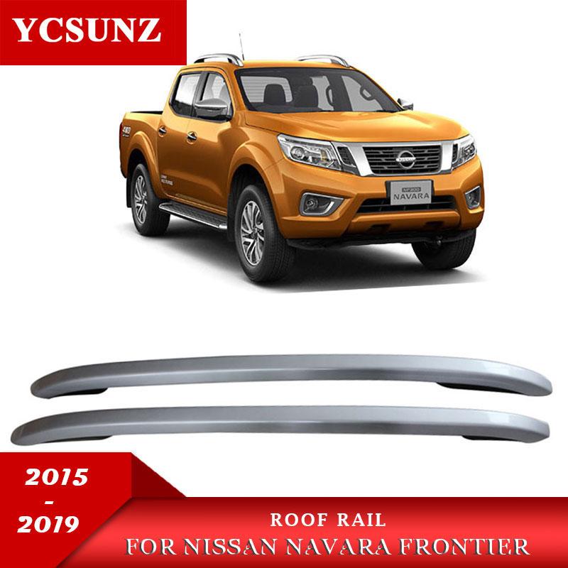 Plata raíles de Baca para techo portador barras para Nissan Navara NP300 frontera 2015, 2016, 2017, 2018, 2019 de doble cabina