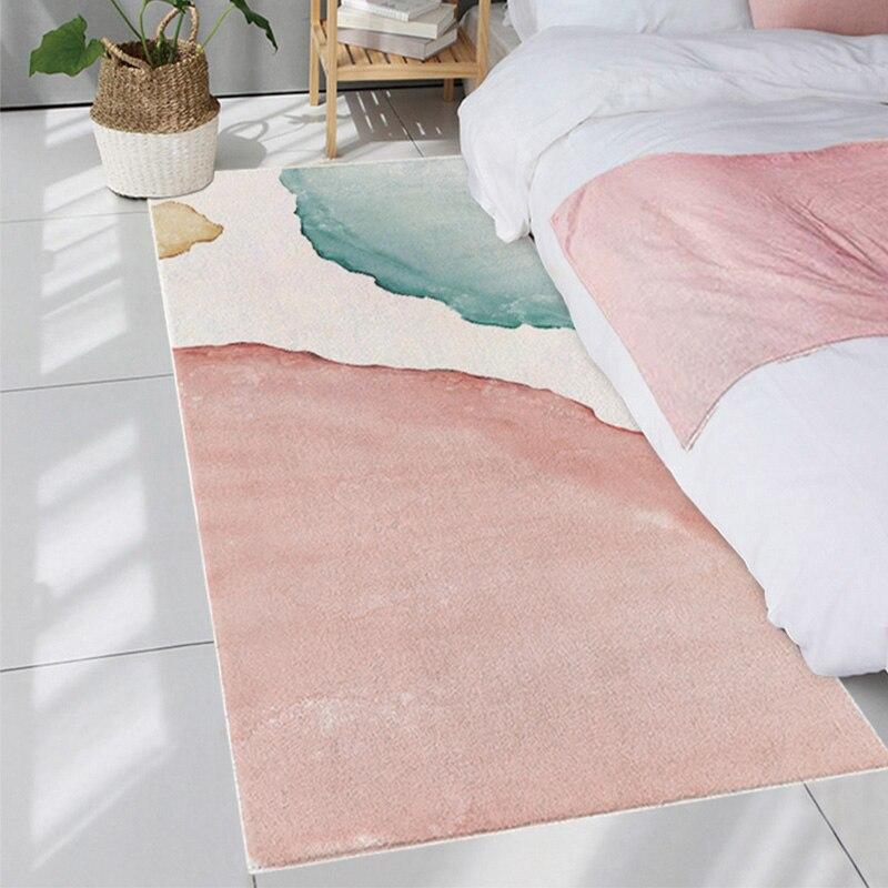 Pink Bedroom Carpets Soft Fluffy Area Rugs Nordic Ins Living Room Carpet Bedroom Floor Mat Bedside Rug Carpet Kids Room Carpet Aliexpress