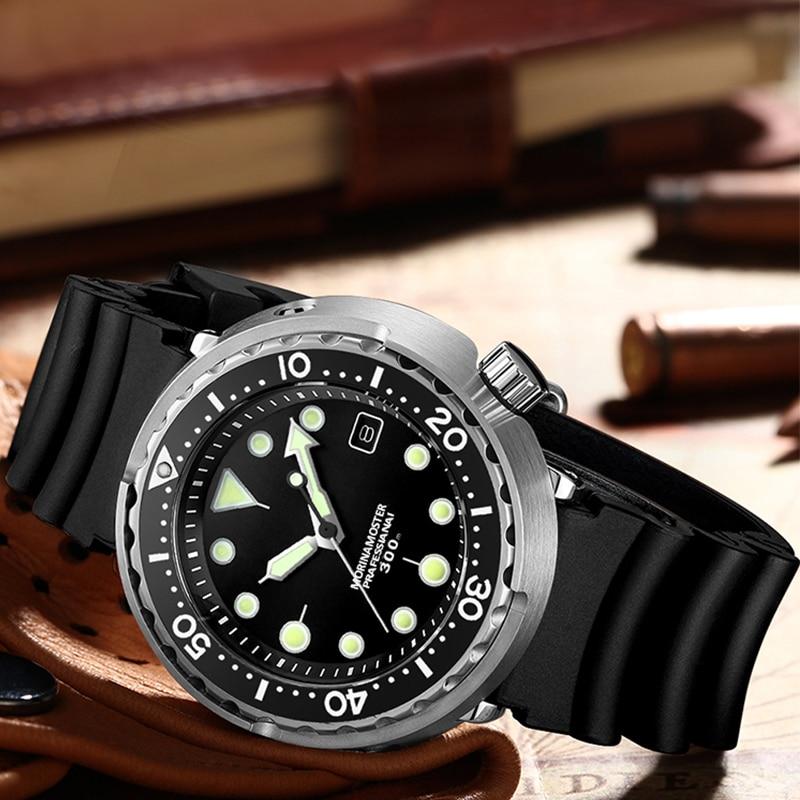 Men Automatic Watch Stainless Steel Diver Watch 300m Water Resistant Sport watch Resistant Ceramics bezel Sapphire glass - 5