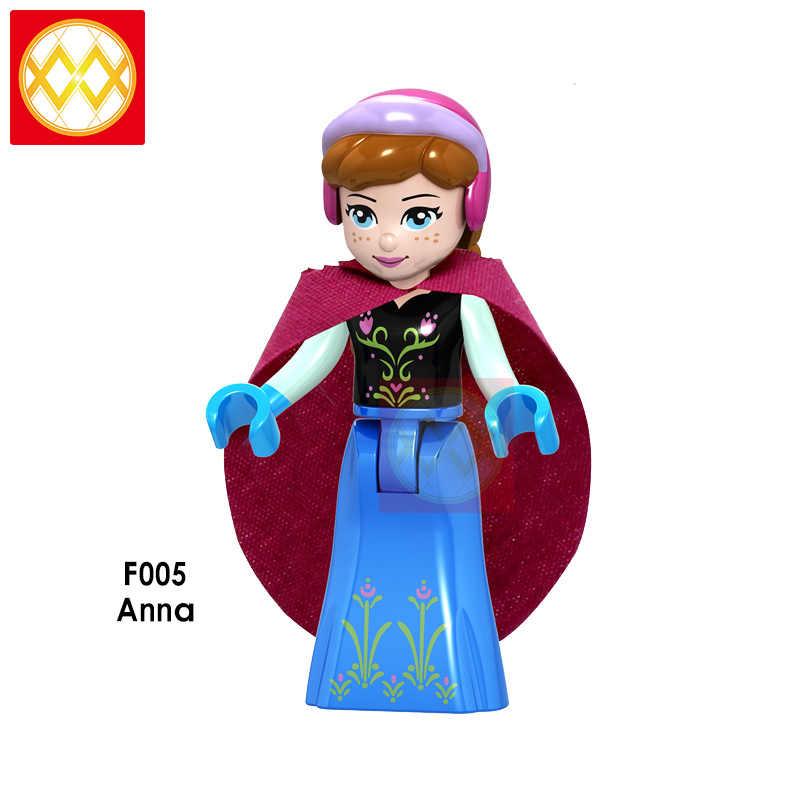 Princesa Elsa Anna Cenicienta Ariel Bella Rapunzel Aurora bloques de construcción regalo de Navidad para niños Juguetes