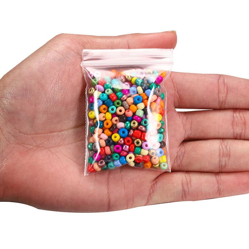 300-600 ชิ้น/ล็อตCharmสีไม่สม่ำเสมอลูกปัดแก้วลูกปัดขนาดเล็กรอบลูกปัดสำหรับเครื่องประดับDIYทำค้นหาต่างหู
