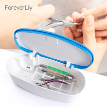 UV LED Sterilizer Box For Manicure Beauty Nail Art Tools S2 Sterilizer Storage Box Portable Tweezers Disinfection Box Nail Tools