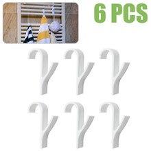 Горячая Распродажа 6 шт. полотенцесушитель радиатор рельс для ванной крюк держатель высокое качество вешалка