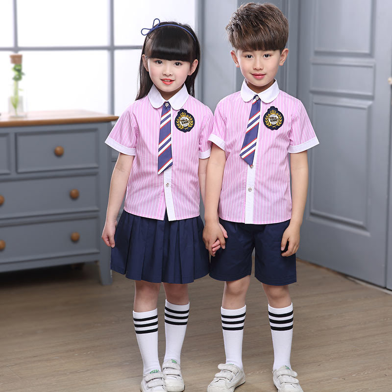 2017 Summer School Uniform Men And Women Children England Sent Kindergarten Suit CHILDREN'S Costume Dancing Dress Primary School