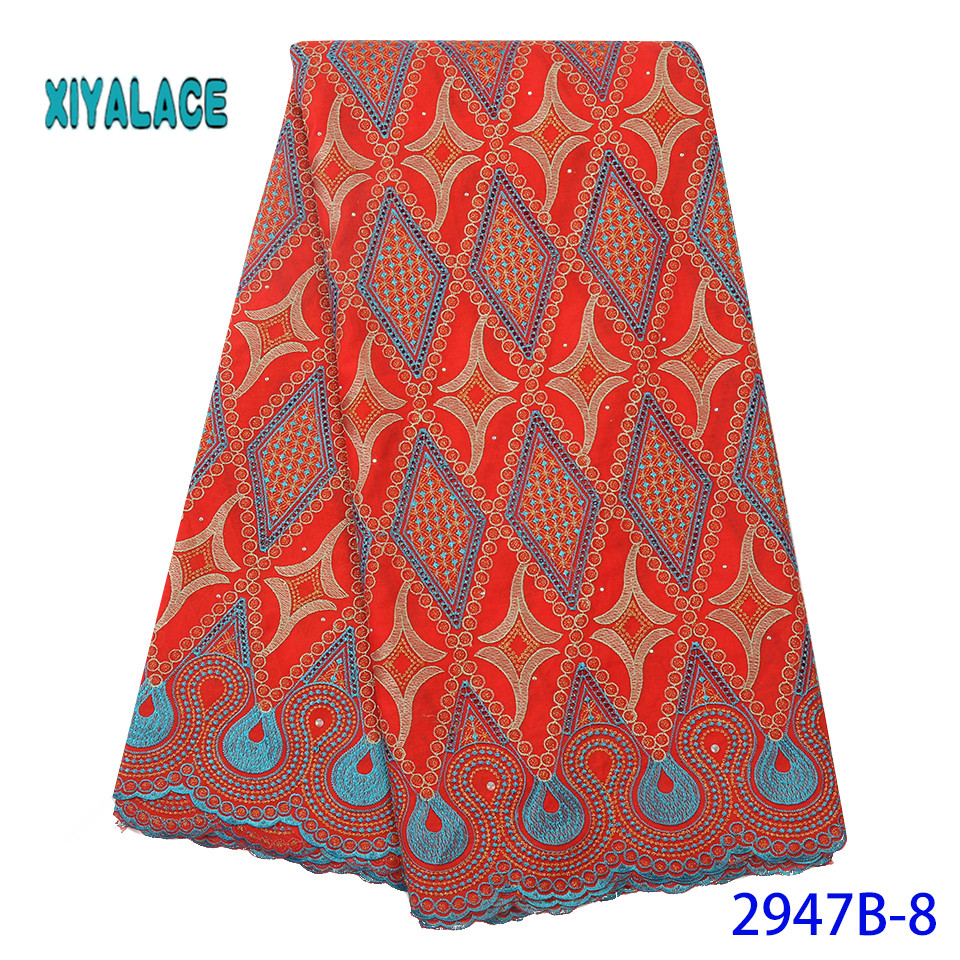 African Lace Fabric Latest High Quality 2019 Lace Embroidery French Lace Fabric Bridal Lace For Nigerian Party Dress YA2947B-8