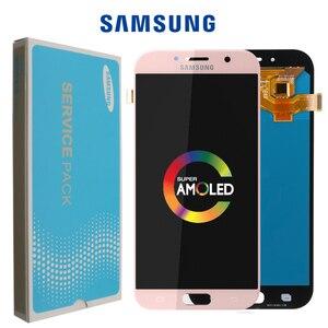 Image 1 - Оригинальный дисплей 5,7 для Samsung Galaxy A7 2017 ЖК дисплей A720M A720Y A720F A720 сенсорный экран дигитайзер в сборе запасные части