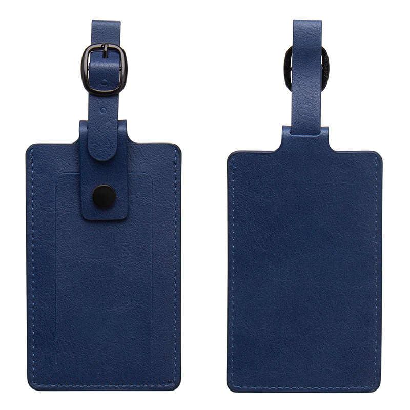 Etiquetas de equipaje bolsa de cuero de PU etiquetas accesorios de viaje maleta ID dirección titular equipaje Etiqueta de embarque etiqueta portátil