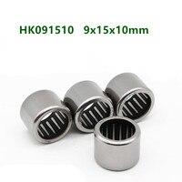 50pcs/100pcs high quality needle bearings HK091510  HK09x15x10  9mm x 15mm x 10mm drawn cup needle roller bearing 9x15x10mm