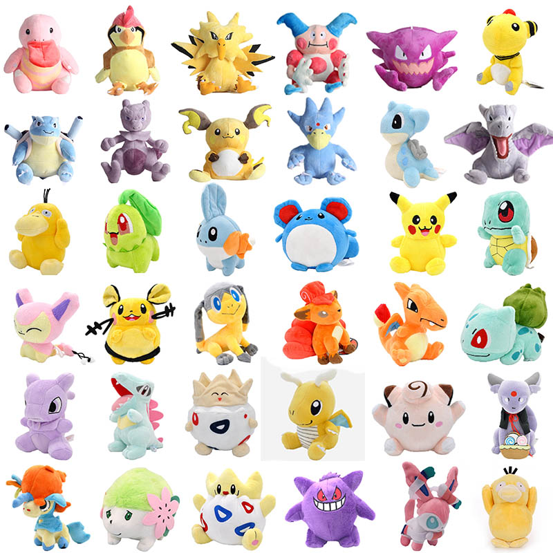 10-23cm Pikachu Plush Toys Animal Soft Stuffed Dolls Hot Beast Jigglypuff Charmander Pocket Animal Peluche Plush Toy Kids Gifts