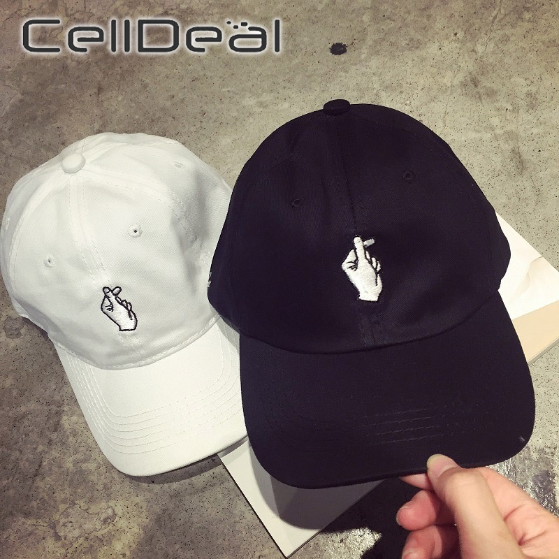 2 Styles Fingers Love Gestures Sports Hat Adjustable Snapback Baseball Cap KPOP Strapback Trucker Hats Unisex Flipper Heart