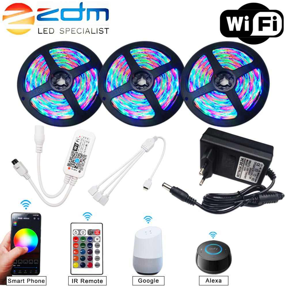 5M 10M 15M WIFI LED Streifen RGB SMD 3528 5050 12V Flexible Home Dekoration Tira RGB LED Licht Streifen Wasserdicht