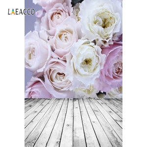 Image 4 - Laeacco Faded Flowers Wall Wooden Floor Vintage Portrait Photography Backdrops Vinyl Photo Backgrounds Baby Birthday Photocall
