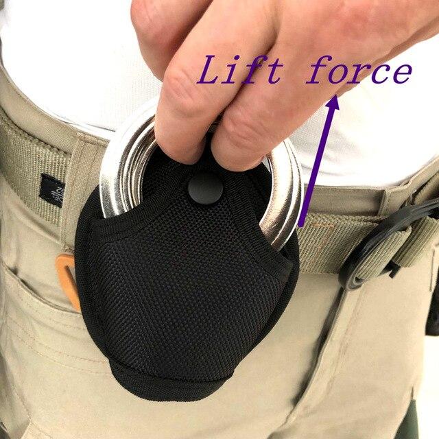 Taktyczne kajdanki uchwyt torba Standard wojskowy kajdanki Case pętli pasa etui wielofunkcyjny uniwersalny szybkie Pull Bag