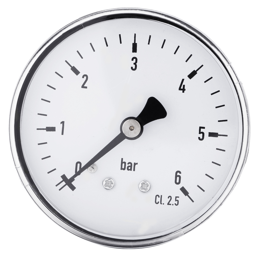 High Accuracy 1/4 Inch NPT Hydraulic <font><b>Gauge</b></font> Tester Meter <font><b>Fuel</b></font> Air Oil Water Liquid Air <font><b>Pressure</b></font> <font><b>Gauge</b></font> 0-6 <font><b>Bar</b></font> Vacuum Manometer image