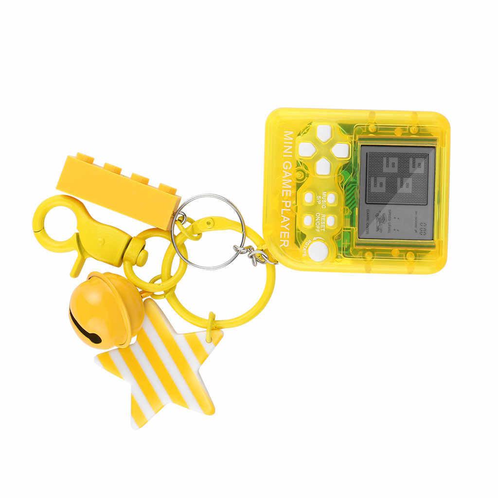 1X ミニゲームでテトリス機 26 1 子ポータブルパズルゲームおもちゃゲームキーホルダー誕生日ギフト子供のためのハンドヘルドゲームコンソールホット