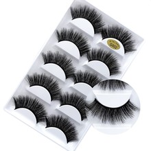 5 pairs natural false eyelashes lashes eye makeup 3D mink eyelash extension beauty tools G800