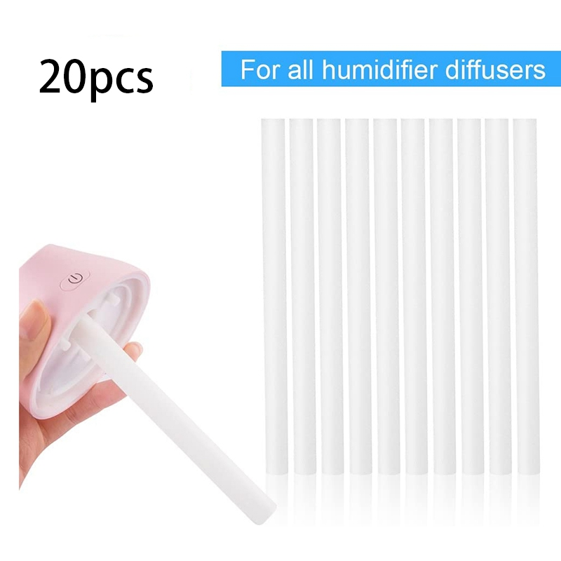 20Pcs Humidifier Filters Replacement Cotton Sponge Stick for USB Humidifier Aroma Diffusers Mist Maker Air Humidifier