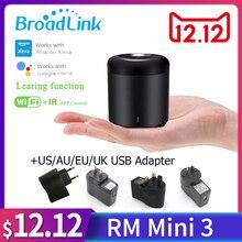 Broadlink original rm mini3 wifi + ir controle remoto sem fio smart controller para alexa google home au uk us eu plug sp3 sockets
