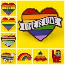 LGBT Enamel Pin Pattern Metal Badges Pins and Brooches for Lesbian Gay Lapel pin Creative Gift backpack bag jacket badge