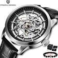 PAGANI новые механические мужские часы с скелетом Tourbillon  водонепроницаемые кожаные оригинальные брендовые роскошные часы Tourbillon relogio masculino 2020