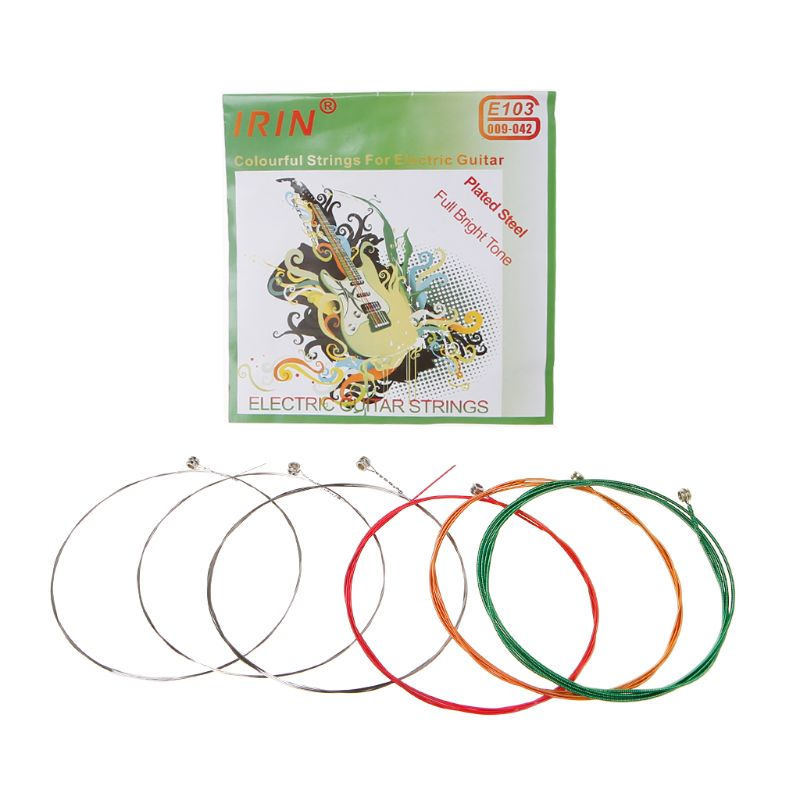 1st-6th Colourful Strings For Electric Guitar E103 Plated Steel Full Bright Tone