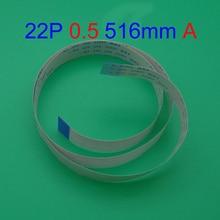 цена на 50pcs New FFC FPC flat flexible cable 22 pin 0,5mm, length 516mm Type A Forward Direction flex cable AWM 20624 80C VW-1