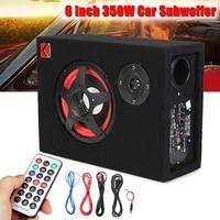 350W Speaker Audio Stereo Bass Under Seat Active Car Subwoofer Powerful 6 inch Card Car Seat Power Car 12V 24V 220V Speaker