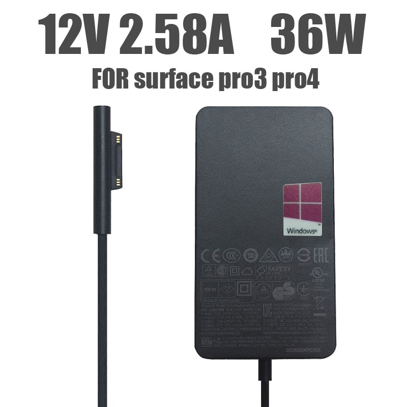 12V 2.58A 36W battery charger for Microsoft Surface Pro 3 Pro 4 core i5 i7 1631 1724 1625-0