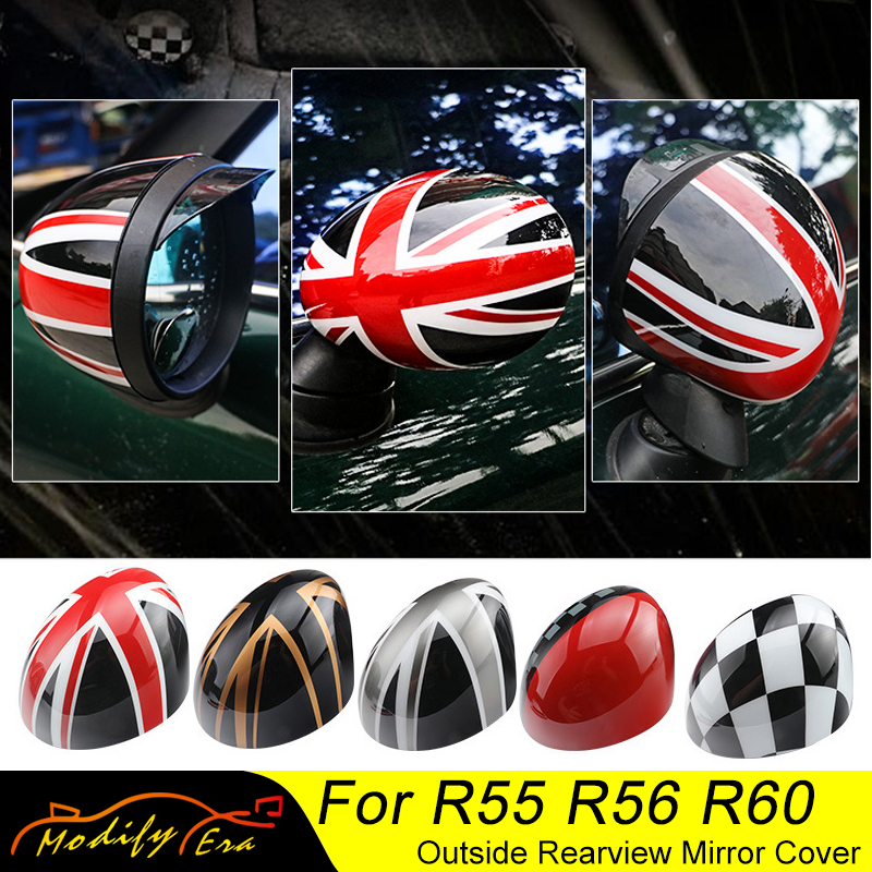 Car-styling Door Rear View Mirror Covers Stickers For Mini Cooper S JCW Clubman Countryman Paceman R55 R56 R57 R58 R59 R60 R61