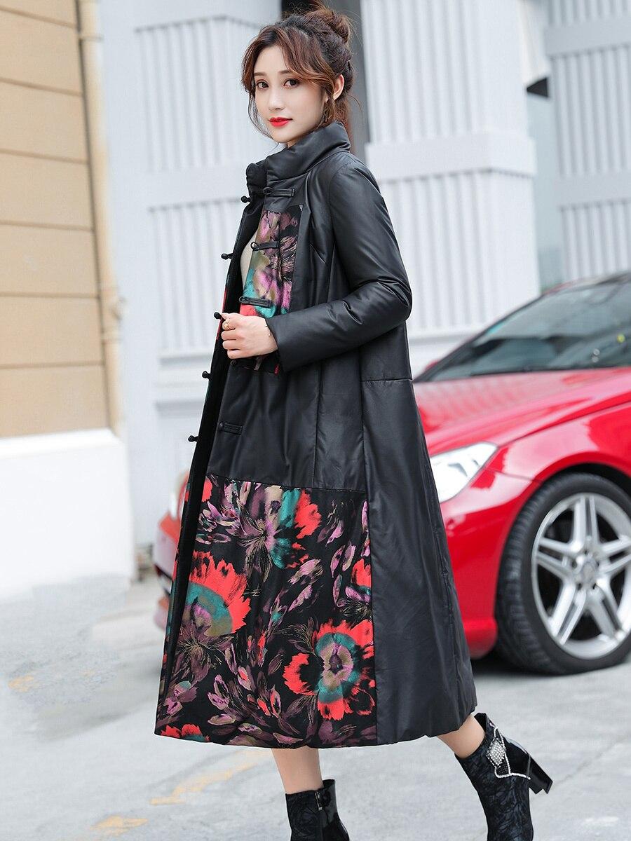Real Leather Jacket Sheepskin Coat Women Clothes 2020 Korean Print Genuine Leather Down Coat Winter Coat Women 62p9222 YY2304