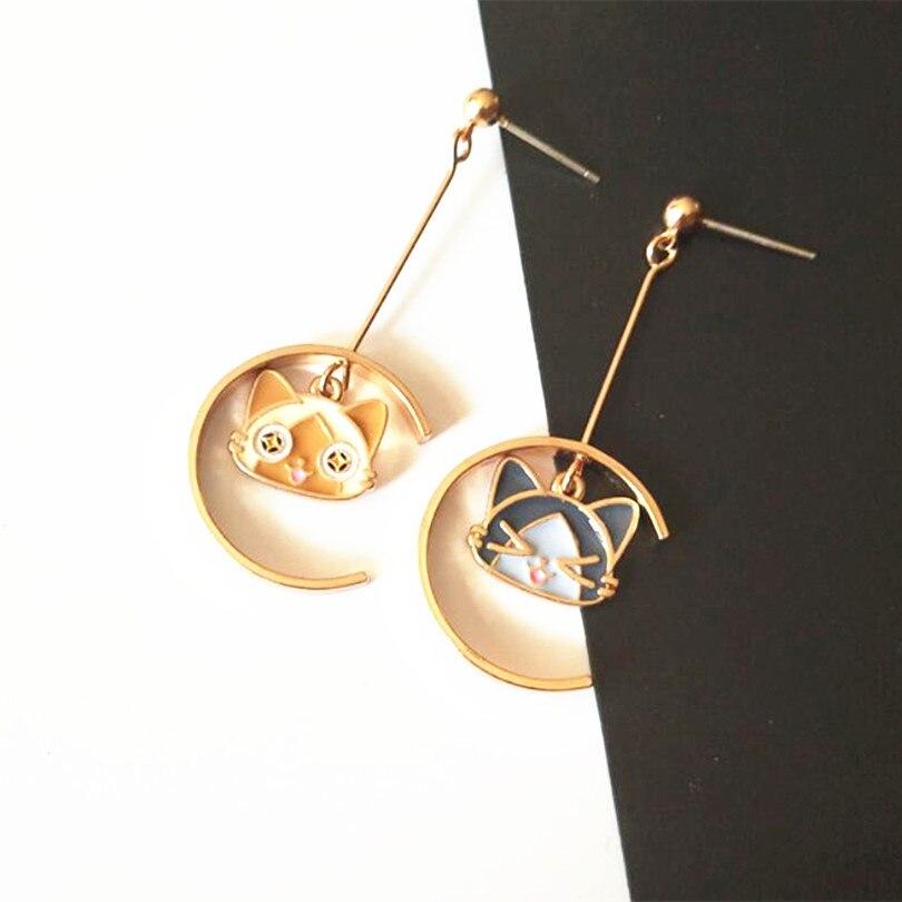 Timlee E226  New Popular Long Butterfly Pendant Earrings Personality Cat Alloy Drop Earrings,Fashion Jewelry Wholesale