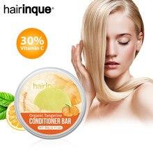 Hairinque cabelo orgânico tangerina condicionador barra artesanal inlcude vitamina c hidratante cabelo barra de condicionador sólido