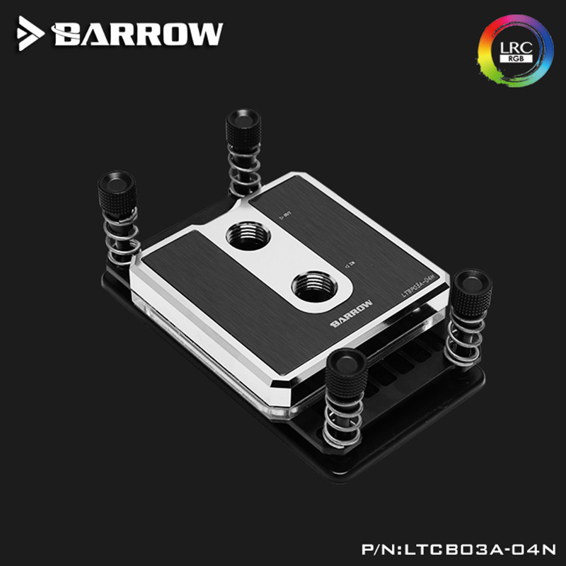 Barrow <font><b>CPU</b></font> Water Block use for <font><b>AMD</b></font> RYZEN <font><b>AM3</b></font> <font><b>AM3</b></font> AM4 /<font><b>CPU</b></font> water cooling POM Brass Metal Top RGB compatible 5V 3PIN LTCP03A-04N image