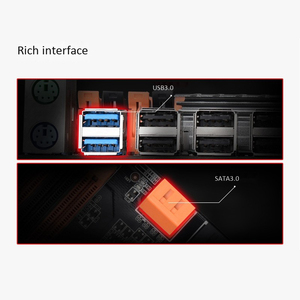 Image 4 - Материнская плата X79 S8 с двумя процессорами LGA2011, поддержка двух процессоров Intel E5 V1/V2 DDR3 1333/1600/1866 МГц 256G M.2 NVME SATA3 USB 3,0