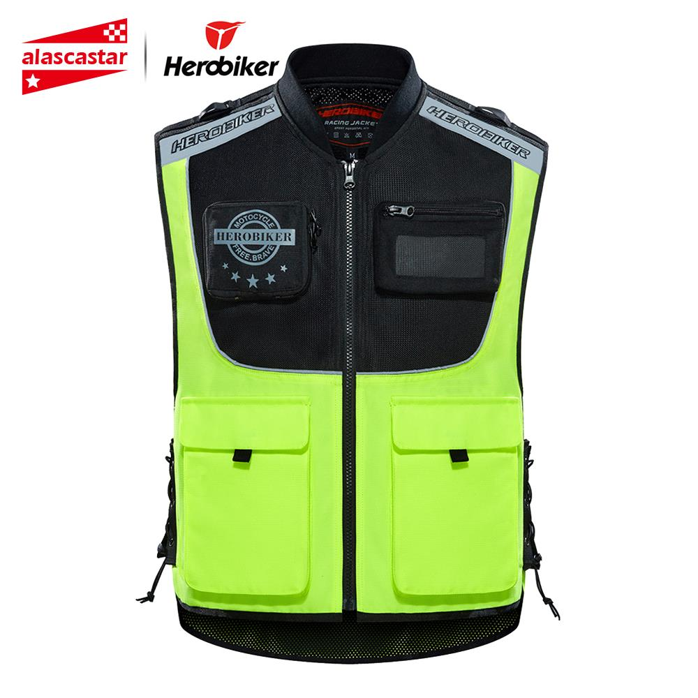 HEROBIKER Motorcycle Jacket Reflective Vest Safety Vest Body Safe Protective Traffic Facilities For Running Riding Sports Vest