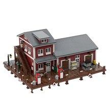 5626 PCS MOC Toys City Street Scene Pier House Construction Building Blocks Modular Architecture Block Model