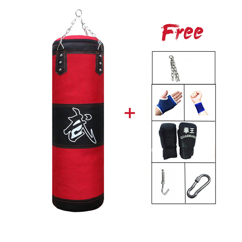 Training Fitness MMA Boxing Punching Bag With Hanger Empty Sport Kick Sandbag Muay Thai Boxer Gym Heavy Musculation Sandbag
