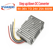 600W Step down/up DC converter 9V 12V 24V 36V TO 24V 25A 600W 8V-40V dc dc  converter industrial isolated 485 repeater communication extends dc8 to 36v 9v 12v 24v