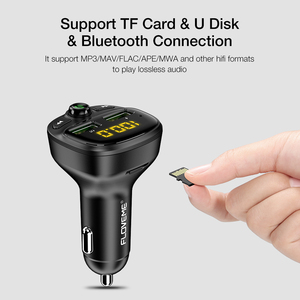 Image 4 - Автомобильное зарядное устройство FLOVEME, 3,4 А, Fm передатчик, Bluetooth, 2 USB порта
