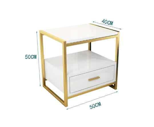 Nordic Ins Nightstand Wooden Side Tables Bedroom Bedside Table With Drawer Bedroom Furniture Tea Table 50x40x50cm Customizable Aliexpress