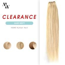 Weft Weaves-Bundles Human-Hair MW 100%Natural Sew Straight Machine-Made 100g-Piano-Color