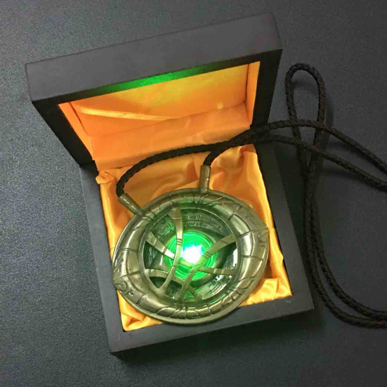 Marvel Avengers Doctor Strange Infinity Time Stones Necklace Keychain Figure