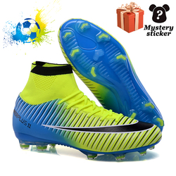 Outdoor Children's Football Shoes TF/FG Turf Shoes High Ankle Children's Splint Training Sports Shoes Five-A-Side Sports Shoes