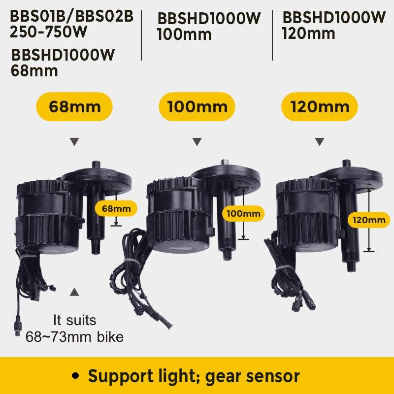 Bafang Motor BBSHD 1000w BBS02B 750w 48V BBS01B 250w 36V BBS01 BBS02 Mitte Antrieb Motor elektrische Motor Fahrrad Conversion Kit